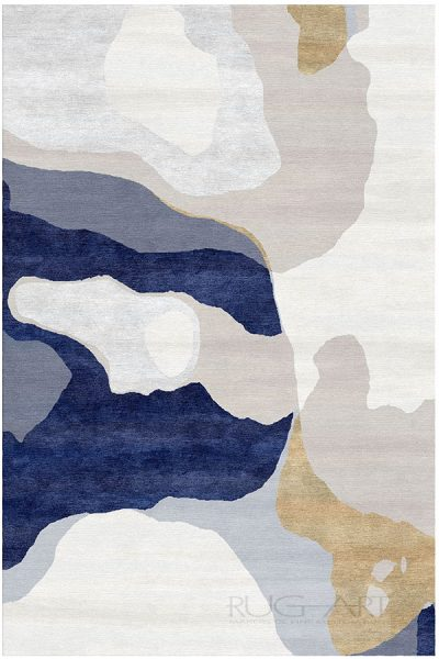 water on color collection featuring indi modern hand knotted rug. rug art international