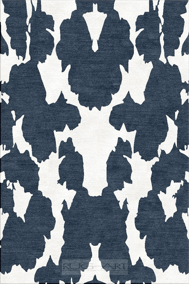 Contemporary hand knotted rug. makers of fine custom rugs. damask.