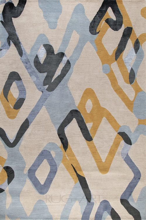 beautiful modern geometric design. hand knotted rug art international