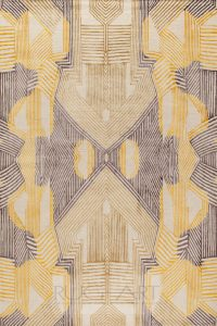 beautiful art deco inspired modern rug, rug art, hand knotted tibetan carpet