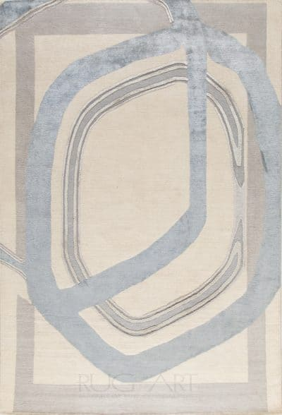 modern geometric rug design, rug art international, tibetan carpet