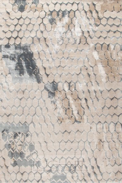 contemporary rug design inspired by cobblestones, hand knotted in nepal, rug art international
