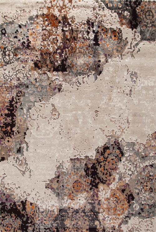 stunning hand knotted rug inspired by my travels, rug art international.