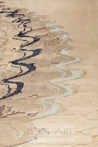 glam handknotted contemporary rug design. rug art international