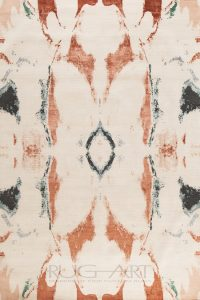watercolor inspiration of a contemporary rug design. rug art international